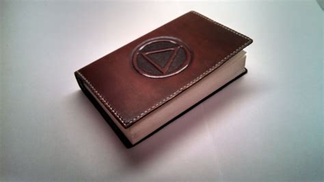 Handmade Leather Book Covers - crafted leather cover for soft back alcoholics