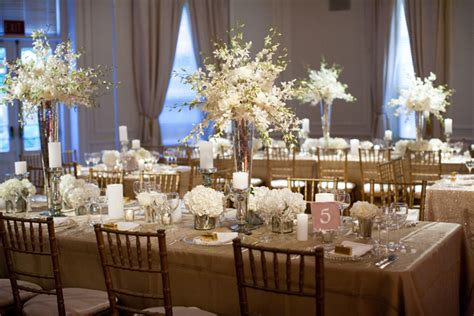 Gold Wedding Decor inspired by glittering gold wedding ideas inspired by this