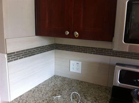 large tile kitchen backsplash large format tile backsplash done kitchen design
