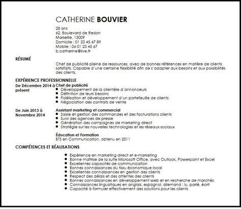 Resume Samples by Cv Chef De Publicite Exemple Cv Chef De Publicite