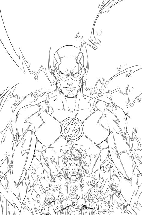 The Flash Vs Reverse Flash Coloring Pages To Print The Flash Coloring Pages