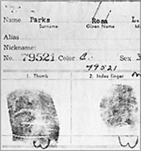 Rosa Parks Arrest Records Civil Rights