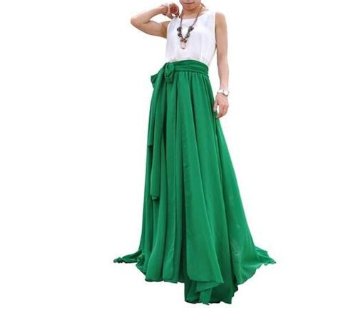 floor length high waist swing skirt high waisted pleated skirt fashion skirts
