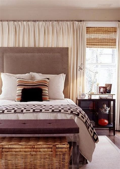 Bed Headboards Diy ways to use sheer curtains and valences