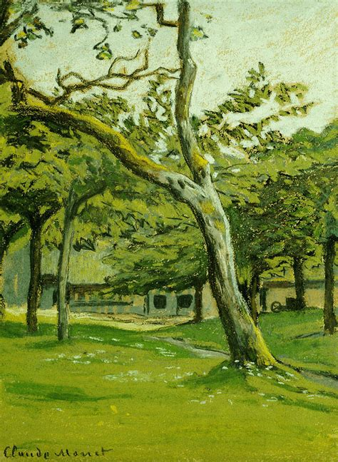 normandy farm the trees painting by claude monet