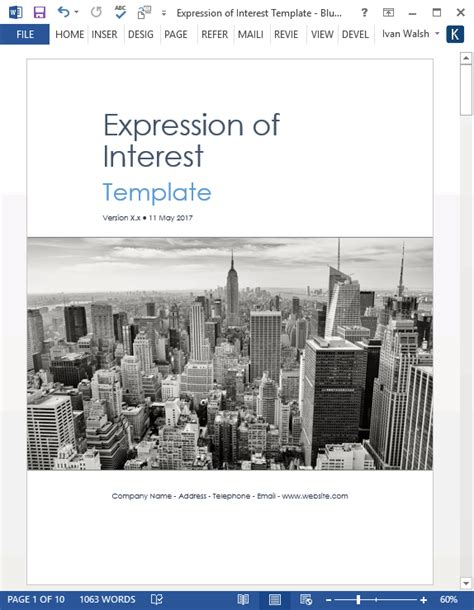 template for expression of interest expression of interest template ms word