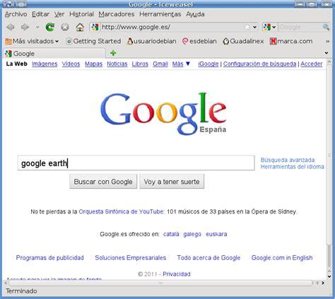 buscar imagenes en google usuariodebian instalar google earth 6