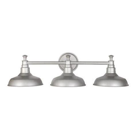 Galvanized Vanity Light Design House Kimball 3 Light Galvanized Steel Indoor Vanity Light 520312 The Home Depot