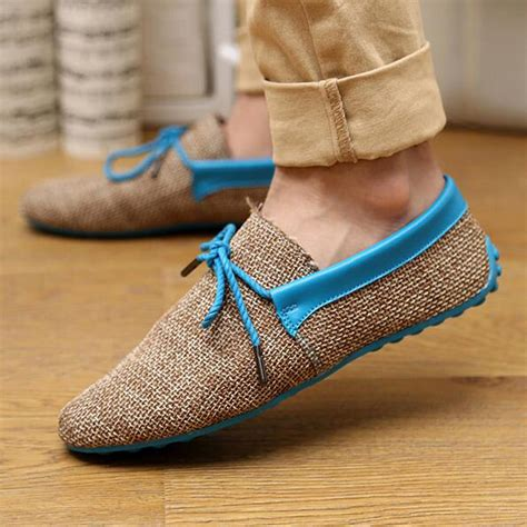 new loafer shoes 2015 new top quality mens canvas casual lace slip on