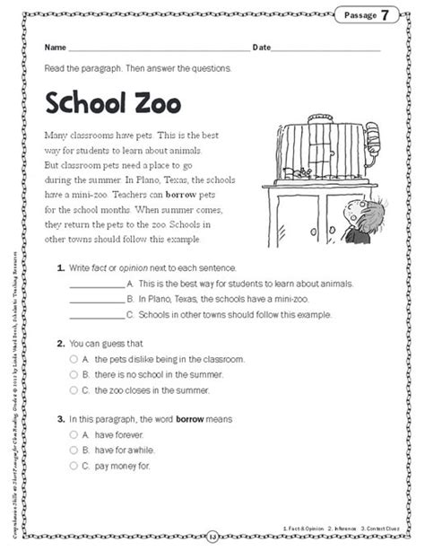 Reading Comprehension Worksheets Grade 2 by 1st Grade Reading Passages