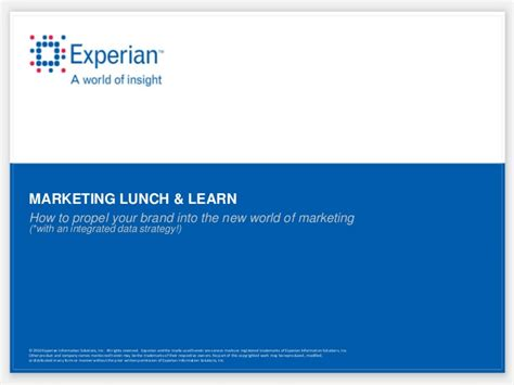 Dfw Marketing Lunch And Learn Brand Projection 10 18 11 Lunch And Learn Presentation Template