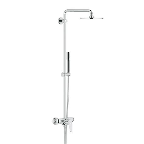 Grohe Euphoria Shower System grohe euphoria system 210 shower system w wall mounted single lever mixer 23058003