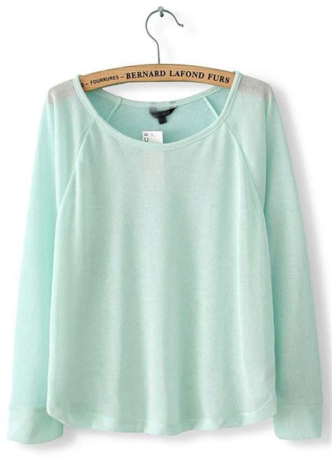 light blue sleeve sweater light blue collarless sleeve polyester knit