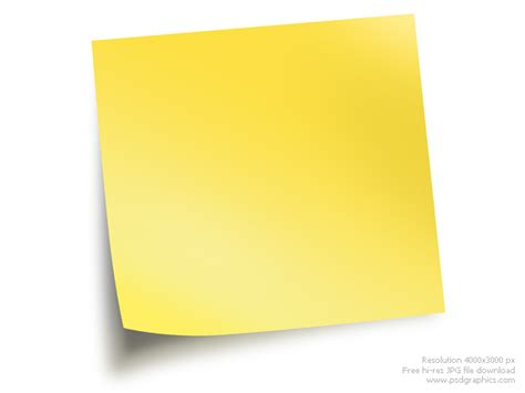 Sticky Notes Psdgraphics Sticky Note Template