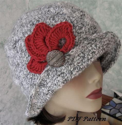 crochet pattern womens hat crochet hat pattern womens flapper style with trim chemo