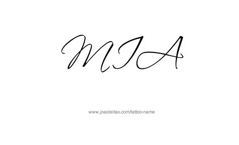mia tattoo name designs