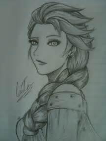 drawings of elsa from frozen elsa frozen drawing by kusanagi91 on deviantart