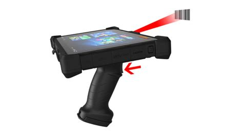 rugged tablet with barcode scanner mobiledemand launches scan handle transforming tablet to scanner