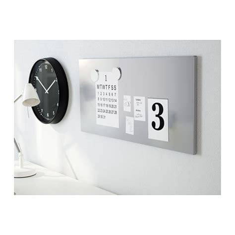 magnet tafel spontan magnetic board silver colour 37x78 cm ikea