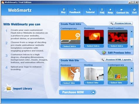 free templates for website building filegets websmartz website builder screenshot websmartz