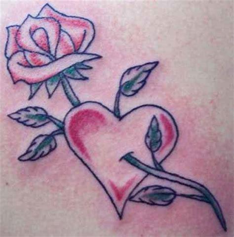 tattoo love heart designs rose heart tattoos
