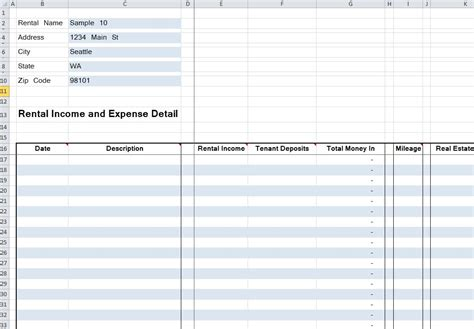 excel rental template 20 residential rental tracking spreadsheet organized