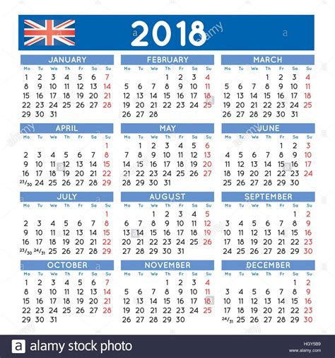 free yearly printable calendar 2018 in pdf 15