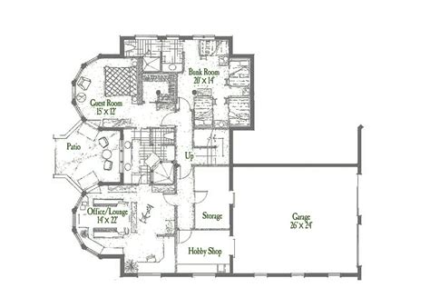 Gem Lake Main Level Floor Log Home Floor Plan Rocky Mountain House Design Guidelines