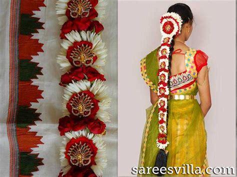pelli poola jada fresh poola jada artificial poola jada pelli poola jadalu floral hairstyles sarees villa
