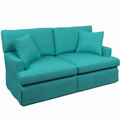 turquoise sofa for sale estate linen turquoise saybrook 2 seater slipcovered sofa