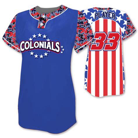 jersey design elite patriotic softball jersey camo meets star spangled