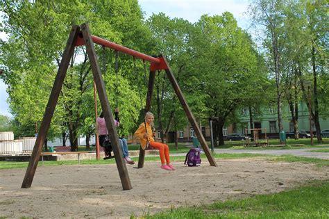 in park children s park in viljandi estonia