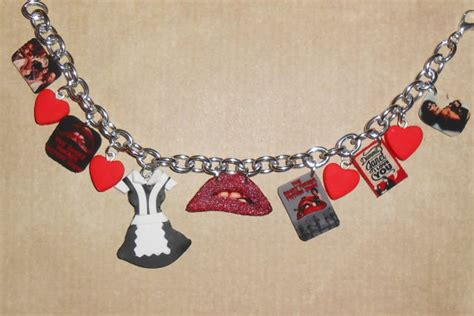 Rocky Horror Picture Show Charm Bracelet cult movie jewelry