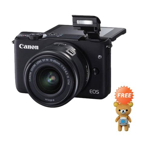 Canon Eos M10 Kit 15 45mm Hitam jual canon eos m10 lensa kit ef m15 45mm kamera mirrorless