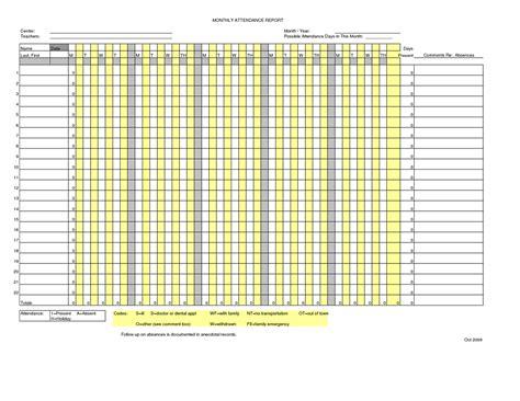 attendance sheet template word masir