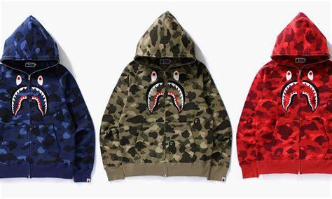 Bape Shark Fullzip Hoodie bape releases the color camo zip shark hoodie