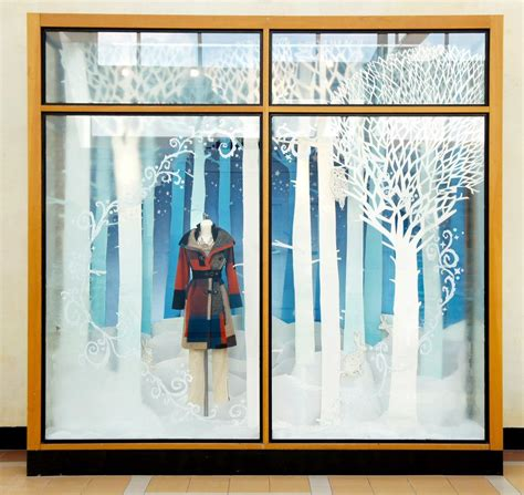 anthropologie snow forest holiday window display 2012