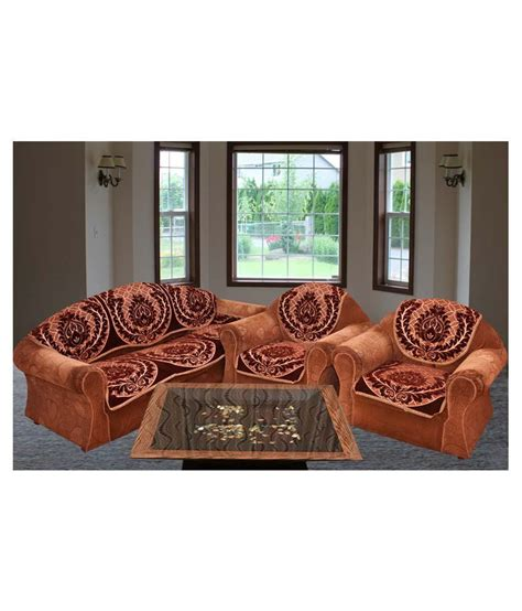 ethnic sofas bhavya ethnic chenille sofa cover set of 10 buy bhavya