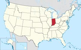 indiana on the map of usa indiana
