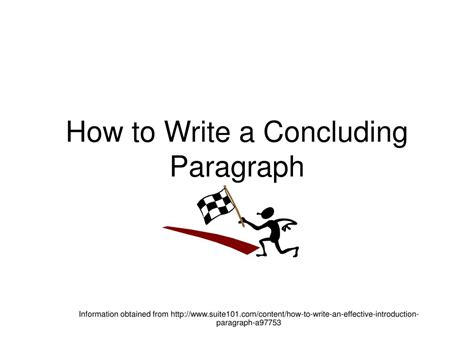 How Do I Write A Conclusion For An Essay by Ppt How To Write A Concluding Paragraph Powerpoint Presentation Id 245978