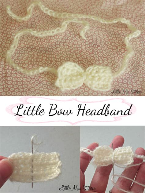 crochet baby headband with lace bow and by allbabygirls miss stitcher bow crochet baby headband