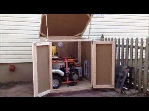 outdoor enclosure  portable generator generator shed