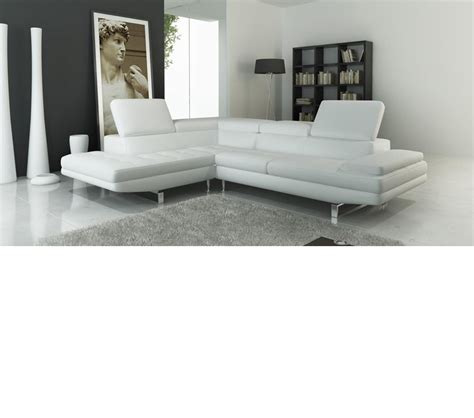 Contemporary Leather Sectional Sofa Dreamfurniture 959 Modern Italian Leather Sectional Sofa