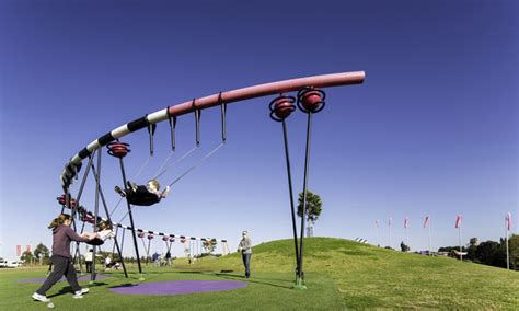 cool kids swings blaxland riverside park sydney s coolest play space for