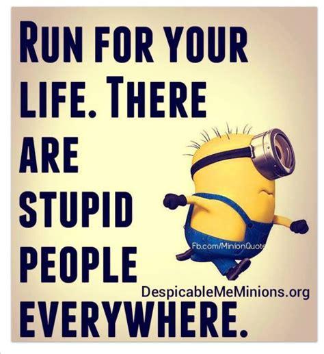 Stupid People Everywhere Meme - minions run stupid people everywhere minions