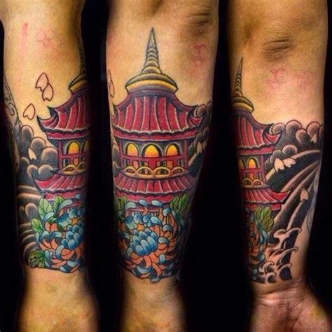 tattoo templo oriental significado templo japon 234 s cris 226 ntemo tatuagem com tatuagens tattoo