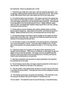Story Essay Sle by Script Treatment Exle