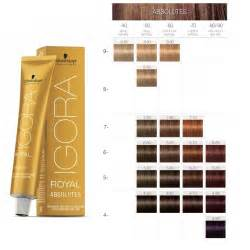 professional colors schwarzkopf professional igora royal absolutes color chart