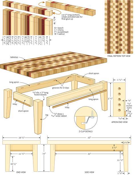workshop tables plans plans diy   coffee table