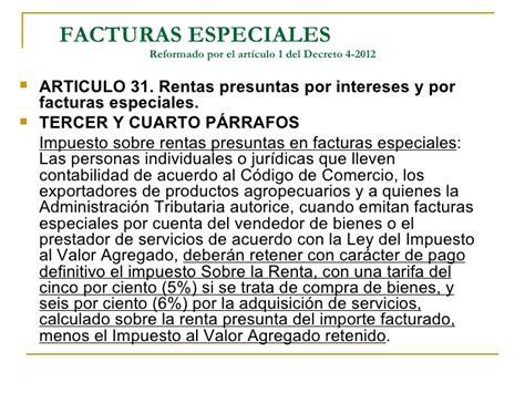 ley del isr guatemala actualizada al decreto 4 2012 modificaciones al decreto 26 92 ley del impuesto sobre la